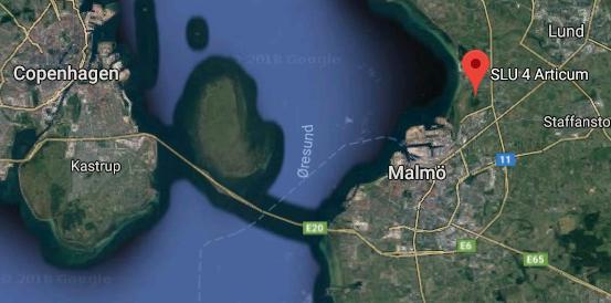 Map of Öresund. Illustration