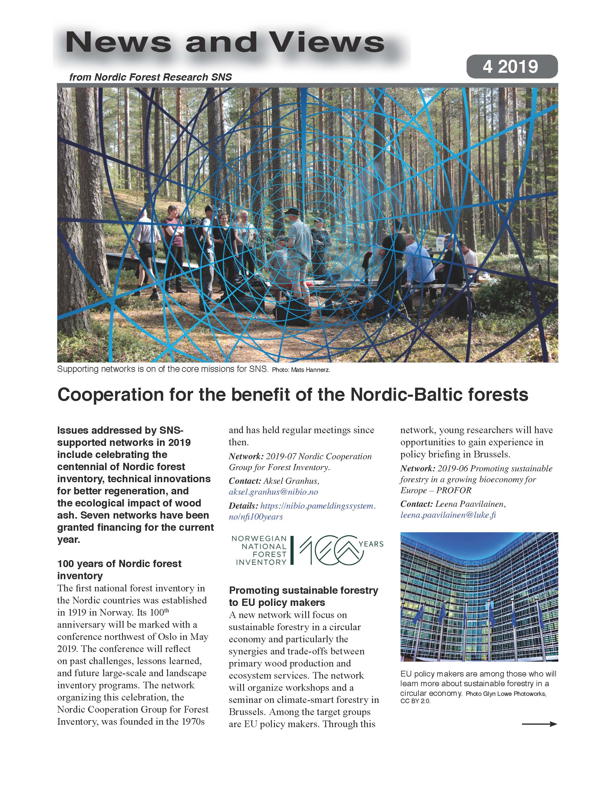 SNS Nordic forest research news