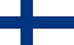 Finnish flag. Illustration.
