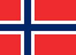 Norwegian flag. Illustration.