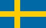 Swedish flag. Illustration.